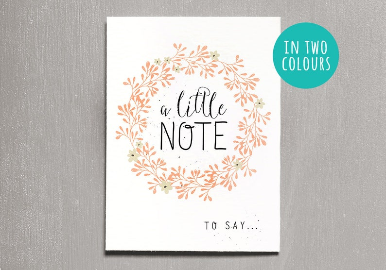 A Little Note Card Instant Download Printable Thank You image 0