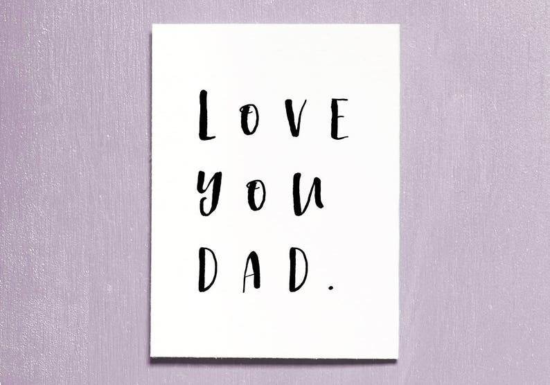 Fathers Day Card Best Dad Card Instant Download Printable image 0