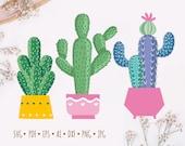 Cactus SVG file Succulent svg file Cactus clip art Succulent Clipart Cactus vector Cactus cut file cactus pot svg plant, commercial RL0531
