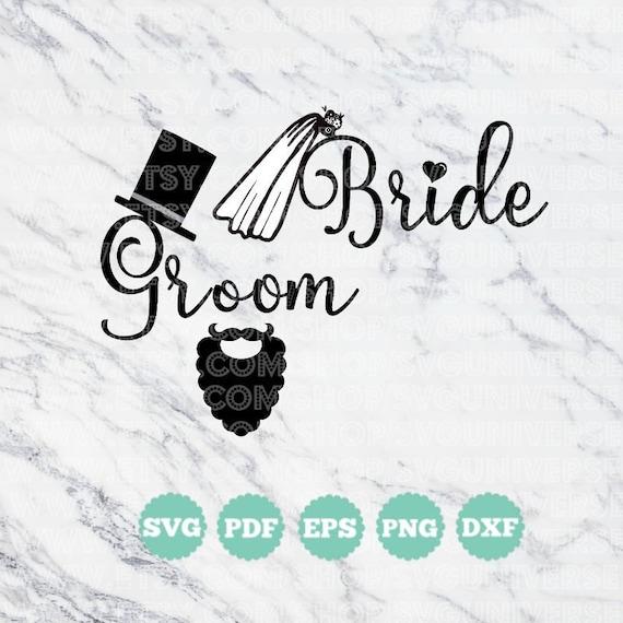 Braut Brautigam Schleier Bart Hut Hochzeit Ehe Svg Etsy
