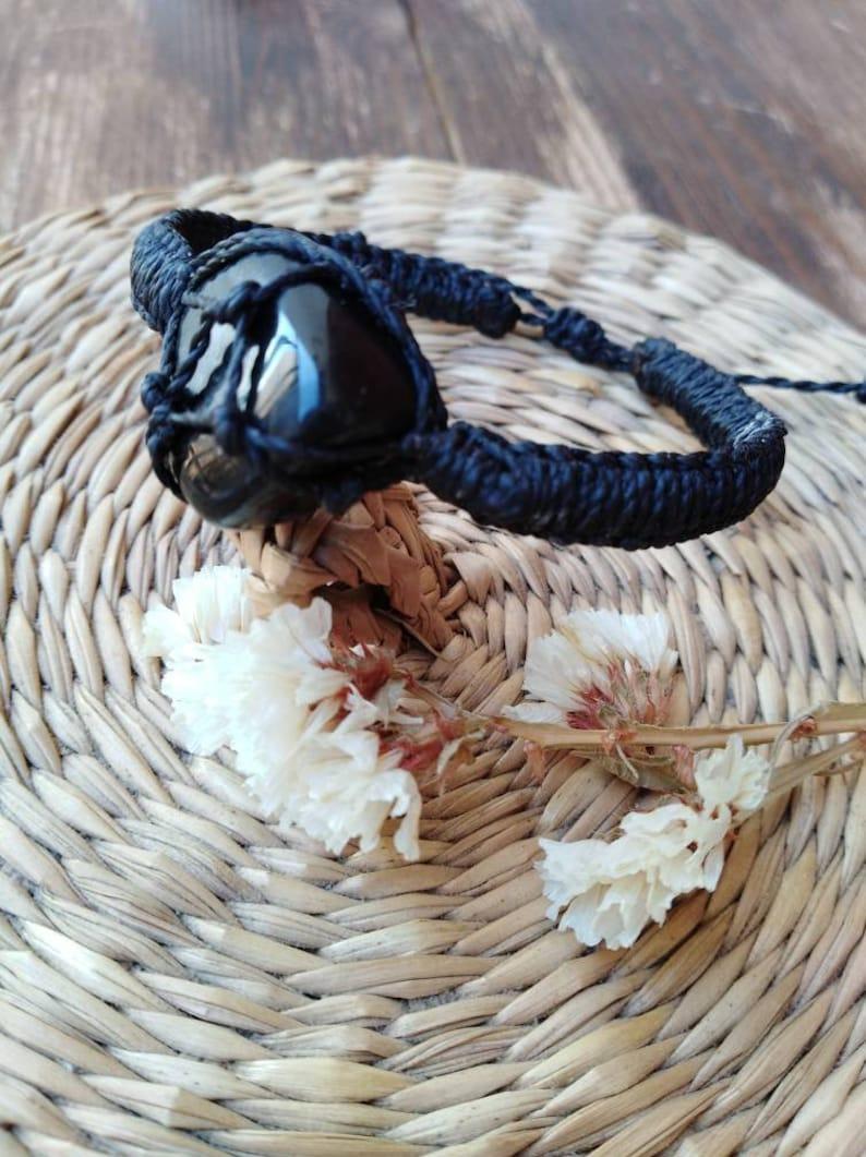 black onix braceletgift for hemacrame bracelet