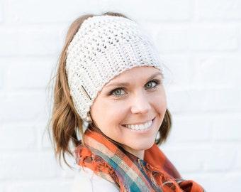 CROCHET PATTERN- Messy Bun Beanie Crochet Pattern, Crochet Bun Hat Pattern, Beanie Crochet Pattern, Messy Bun Beanie, Juliet Bun Beanie