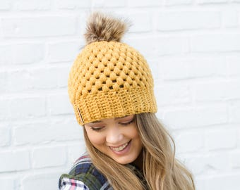 Sungold Claire Pom Beanie
