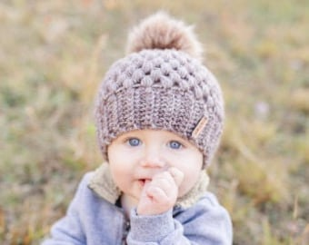 CROCHET PATTERN- Baby Claire Beanies, Crochet Baby Beanie, Child Size Beanie Pattern, Beanie Pattern, Simple Baby Beanie, Toque Pattern