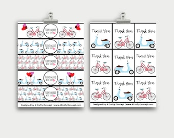 Bike and Moped Wrap Labels- Handmade with love- PDF Download