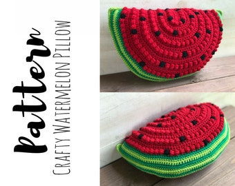 Crochet Watermelon Pillow Pattern, Watermelon Pillow Pattern, Crochet Watermelon Pattern, Crochet Pillow Pattern, DIGITAL DOWNLOAD, Summer