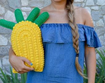 Pineapple Pillow, Crochet Pineapple Pillow, Pineapple Decor, Pineapple Home Decoration, Food Decor, Plush Pineapple, Pineapple Throw Pillow