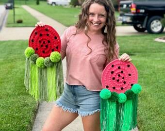CROCHET PATTERN- Watermelon Wall Hanging, Crochet Watermelon Pattern, Crochet Watermelon Home Decor Pattern, Crochet Watermelon Tapestry