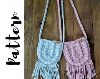 Crochet Bag Pattern, Crochet Purse Pattern Cross Body, Crochet Boho Bag Pattern, Crochet Toddler Purse Pattern, DIGITAL DOWNLOAD