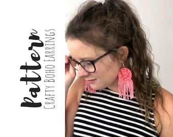Crochet Earrings Pattern, How To Crochet Earrings, Easy Crochet Earrings Pattern, Crochet Boho Earrings Pattern-Crochet Pattern for Earrings