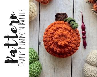 Crochet Pumpkin Rattle Pattern, Crochet Pumpkin Pattern, Crochet Baby Toy Pattern, Crochet Pattern, Crochet Baby Pumpkin Pattern,