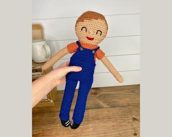 CROCHET PATTERN - Amigurumi Crochet Boy Doll, Crochet Baby Doll, Easy Crochet Amigurumi Patterns, Crochet Boy Doll Pattern, Crochet Rag Doll