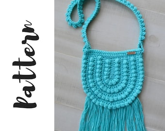 Crochet Bag Pattern, Crochet Purse Pattern, Crochet Boho Bag Pattern, Crochet Crossbody Bag Pattern, DIGITAL DOWNLOAD
