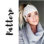 Claire Bun Beanie Crochet Pattern, Crochet Messy Bun Beanie Pattern, Beanie Crochet Pattern, Messy Bun Beanie Pattern