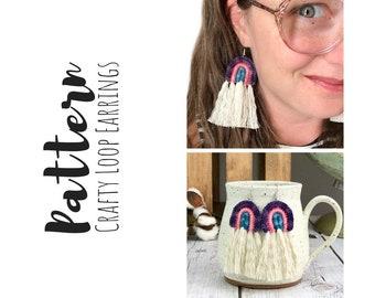 Crochet Rainbow Earrings Pattern, Crochet Earrings Pattern, How To Crochet Earrings, Easy Crochet Earrings Pattern, Rainbow Earrings DIY