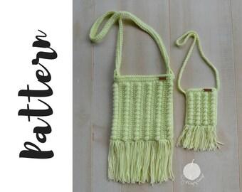 Crochet Purse Pattern, Crochet Pattern Bag, Crochet Bag Pattern, Crochet Crossbody Bag Pattern, Crochet Mommy and Me Bags Pattern