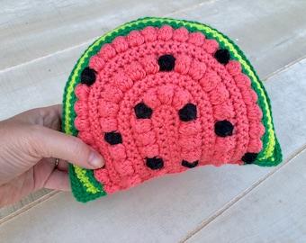 CROCHET PATTERN- Watermelon Baby Rattle, Crochet Baby Rattle Pattern, Crochet Baby Shower Gift, Crochet Watermelon Toy, Amigurumi Watermelon