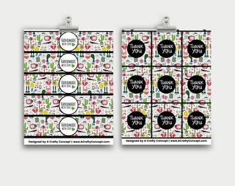 Heartbreak Wrap Labels- Handmade with love- PDF Download