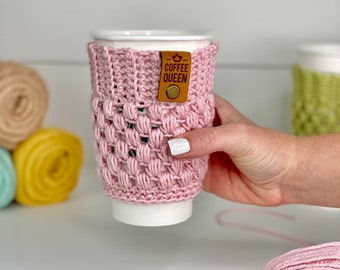 CROCHET PATTERN- Coffee Cup Cozy, Crochet Coffee Sleeve, Crochet Mug Hugger Pattern, A Crafty Concept Crochet Pattern, Coffee Cozy Pattern