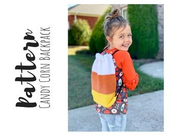 Crochet Candy Corn Backpack Pattern