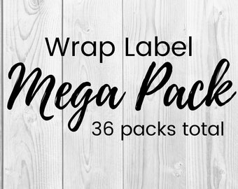36 Mega Pack  - Handmade with Love - Product Wrap Labels - PDF