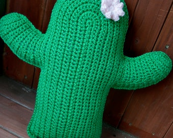 Crochet Cactus Pillow, Cactus Pillow, Cactus Throw Pillow, Cactus Nursery Decoration, Bohemian Home Decor, Cactus Cushion, Desert Cactus