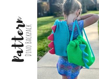 Crochet Dinosaur Backpack Pattern, Crochet Childs Backpack Pattern, Crochet Dinosaur Pattern, Crochet Pattern, Digital Download