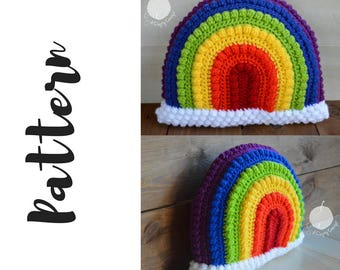 Crochet Rainbow Pillow Pattern, Rainbow Pillow Pattern, Crochet Rainbow Pattern, Crochet Pillow Pattern, DIGITAL DOWNLOAD, Rainbow Pattern