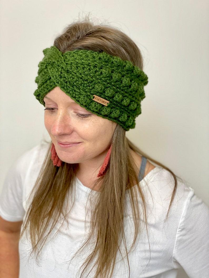 Twist Headband Twisted Headband Twisted Ear Warmer Ear Warmer Green Ear Warmer Womens Twist Turban Headband Ear Warmer Headband
