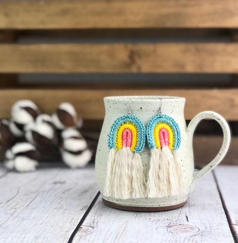 CROCHET PATTERN Rainbow Earrings With Fringe Crochet image 2