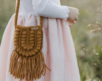 CROCHET PATTERN- Crochet Bag, Crochet Purse, Crossbody Bag, Crochet Boho Bag, Crochet Toddler Purse Pattern, DIGITAL Download pdf