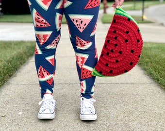 CROCHET PATTERN- Watermelon Pillow, Watermelon Cushion Pattern, Crochet Watermelon Pattern, Crochet Pillow Pattern, DIGITAL download