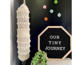 Crochet Plastic Bag Holder Pattern, Boho Bag Saver Crochet Pattern, Grocery Bag Holder Pattern, Grocery Bag Storage, Grocery Bag Dispenser