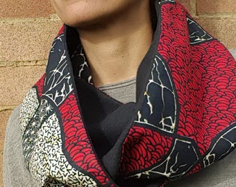 Black and Red Infinity Scarf