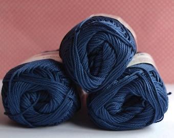 Catania yarn - Schachenmayr / 164 Jeans / Worldwide Shipping / 100% Cotton /  Crochet and Knitting Yarn / 1 ball/50g
