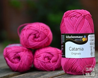 Catania yarn - Schachenmayr / 114 Cyclam / Worldwide Shipping / 100% Cotton / Crochet and Knitting Yarn / 1 ball/50g