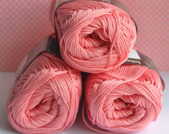Catania yarn - Schachenmayr / 409 Dahlie / 100% Cotton/ Worldwide Shipping / Crochet and Knitting Yarn / 1 ball/50g