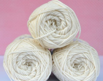 Kacenka - soft cotton/acrylic yarn for crochet and knitting, Beige color, No. 7104, 1 ball/50 g, Producer NCT