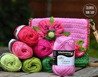 Catania yarn - Schachenmayr / Mix of colors / 100% Cotton/ Worldwide Shipping / Crochet and Knitting Yarn