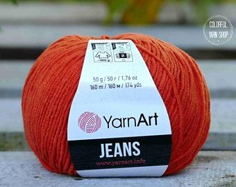 Jeans by YarnArt No. 85 - crochet - knitting - yarn - worldwide shipping - sport yarn - 55cotton 45acrylic