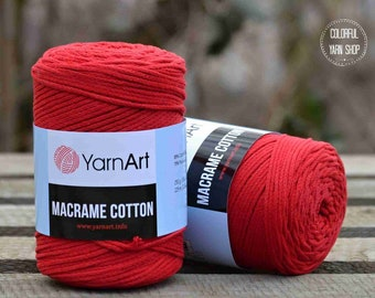 Macrame cotton by YarnArt - No.773 - worldwide shipping - Cotton cord / Macrame yarn / crochet rugs / decoration