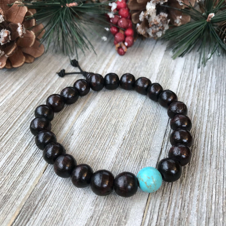 Mens Bracelet, Christmas Gift For Him, Rosewood Bracelet, Husband ...
