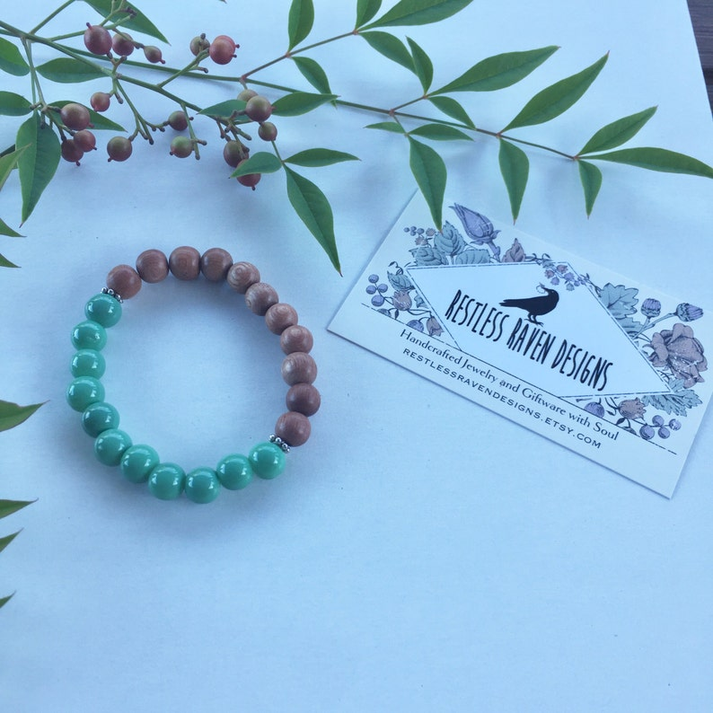 Genuine Natural Rosewood Bracelet Healing Crystals Gemstones Calming Zen Reiki Meditation Yoga Metaphysical Spiritual  Gift