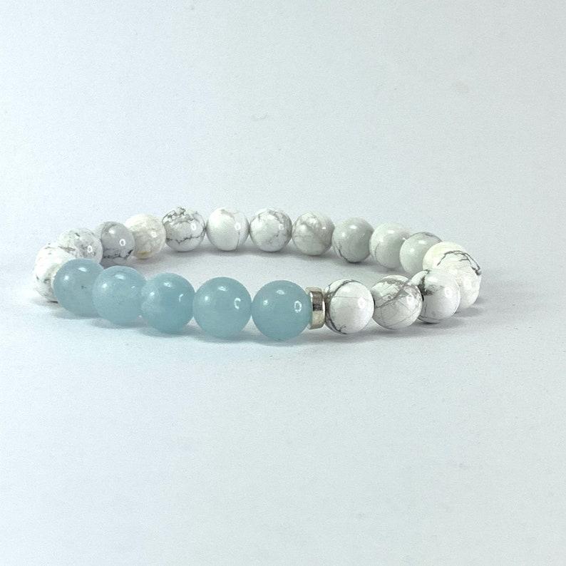 21st Birthday Gift for Best Friend Aquamarine Birthstone Bracelet