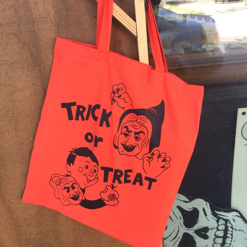 Trick or Treat Graveface Tote Bag