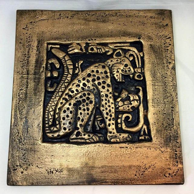 Mayan Jaguar / Temple Carving / Wall Art/ Sculpture | Etsy