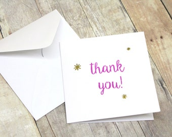 Mini Thank You Cards - Mini Note Cards - Set of Mini Thank You Cards - Mini Thank You Cards for Customers - Mini Square Cards - Small Cards