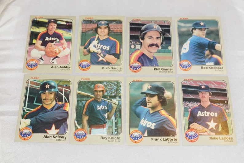 Fleer Houston Astros 1983 Mixed Lot Fleer Baseball Cards Fleer Collectible Vintage Twins Collectible