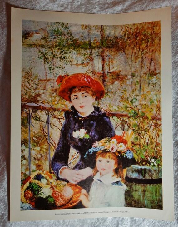 1970 S Pierre Auguste Renoir Dans La Terrasse Fine Art Etsy