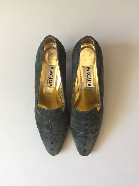 Blue Suede Shoes, Heels, Pancaldi Pumps, Vintage P